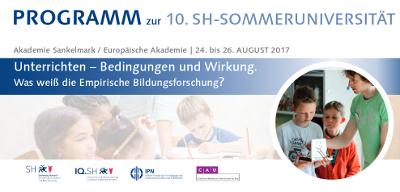 10. SH-Sommeruniversität für Lehrkräfte in der Akademie Sankelmark: Das Unterrichten im Fokus