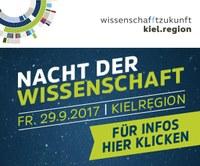 Bitte vormerken: 29.09.2017 wird zur Nacht der Wissenschaft in der KielRegion