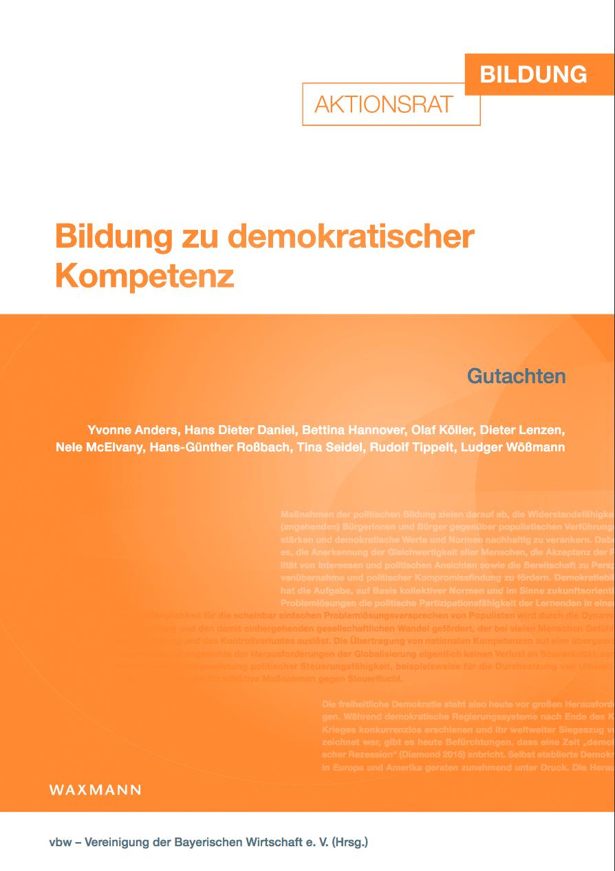 Bildung zu demokratischer Kompetenz: Aktionsrat Bildung legt Gutachten vor