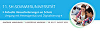 Jetzt anmelden: 11. SH-Sommeruniversität für Lehrkräfte vom 9. bis 11. August 2018