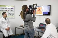 NDR-Fernsehteam im klick! Labor der Kieler Forschungswerkstatt