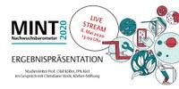 Online-Präsentation am Mittwoch, 6. Mai 2020, 13.00 Uhr: MINT Nachwuchsbarometer 2020