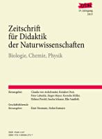 Zeitschrift für Didaktik der Naturwissenschaften - Jahresband 2013