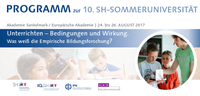 10th Schleswig-Holstein Summer University for Teachers at the Sankelmark Academy puts focus on teaching techniques.
