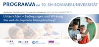 10th Schleswig-Holstein Summer University for Teachers at the Sankelmark Academy puts focus on teaching techniques.